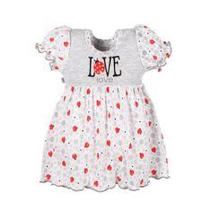 NEW BABY Dojčenské šatôčky New Baby LadyBird 68 (4-6m) Sivá