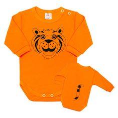 NEW BABY Dojčenské body s dlhým rukávom New Baby Zvieratko Tygrík oranžové 56 (0-3m) Oranžová