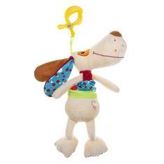 AKUKU Plyšová hračka s hracím strojčekom psíček Béžová