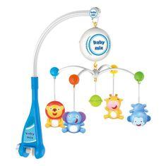 Baby Mix Elektrický kolotoč nad postieľku Baby Mix zvieratká Multicolor