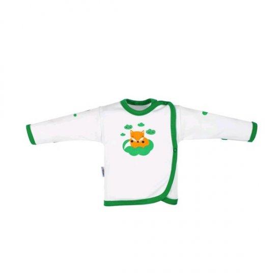 NEW BABY Dojčenská bavlnená košieľka New Baby Líška zelená 68 (4-6m) Zelená