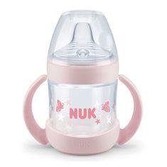 Nuk Dojčenská fľaša na učenie NUK Nature Sense 150 ml ružová Ružová