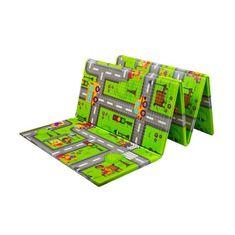 PLAYTO Multifunkčná skladacia hracia podložka PlayTo Cesta Zelená