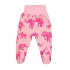 BABY SERVICE Zimné dojčenské polodupačky Baby Service Slony ružové 74 (6-9m) Ružová