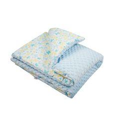 NEW BABY Detská deka z Minky s výplňou New Baby modrá 80x102 cm Modrá