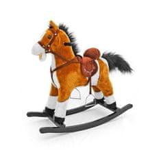 MILLY MALLY Hojdací koník s melódiou Milly Mally Mustang svetlo hnedý Hnedá