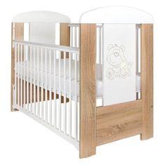 NEW BABY Detská postieľka New Baby Medvedík s hviezdičkou so sťahovacou bočnicou dub Dub Riviera