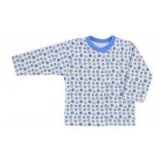 KOALA Dojčenský kabátik Koala Magnetky modrý z labkami 62 (3-6m) Modrá