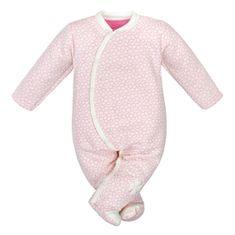 BABY SERVICE Dojčenská kombinézka Baby Service Štvorlístok 74 (6-9m) Ružová