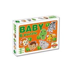 Dohany Detské Baby puzzle Oranžová