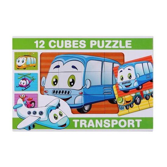 Dohany Skladacie obrázkové kocky 12 ks transport Podľa obrázku