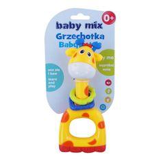 Baby Mix Detské hrkálka Baby Mix žltá žirafa Žltá