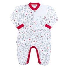 NEW BABY Dojčenský bavlnený overal New Baby Hedgehog červený 86 (12-18m) Červená