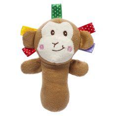 AKUKU Plyšová hračka s pískatkom Akuku opica Hnedá