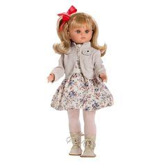 Berbesa Luxusná detská bábika-dievčatko Berbesa Laura 40cm Béžová