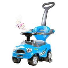 BAYO Detské hrajúce jazdítko-odrážadlo 3v1 Bayo Super Coupe blue Modrá