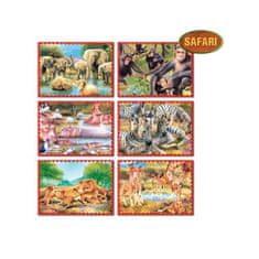 Dohany Skladacie obrázkové kocky 12 ks safari Žltá