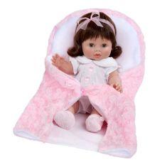 Berbesa Luxusná detská bábika-bábätko Berbesa Magdalena 35cm Ružová