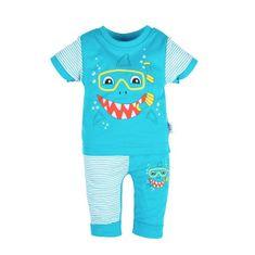 NEW BABY Dojčenské tričko s krátkym rukávom a tepláčky New Baby Shark 80 (9-12m) Tyrkysová