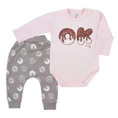 KOALA Dojčenské tepláčky a body Koala Yummy ružovo sivé 86 (12-18m) Ružová