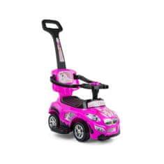 MILLY MALLY Detské jezdítko 2v1 Milly Mally Happy pink Ružová