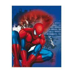 Kaufmann Detská obojstranná auto deka Spiderman 120x150 cm Podľa obrázku