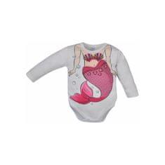 BOBAS FASHION Dojčenské body Bobas Fashion Hrdina s morskou vílou 98 (2-3 r) Biela