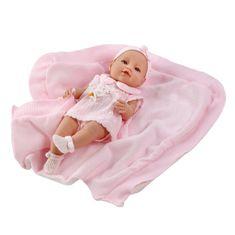 Berbesa Luxusná detská bábika-bábätko Berbesa Ema 39cm Ružová