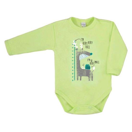 AMMA Dojčenské body s dlhým rukávom Amma zelené 74 (6-9m) Zelená