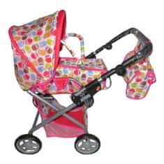 Baby Mix Detský kočík pre bábiky 2v1 Baby Mix so sovičkami Multicolor