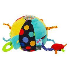 Baby Mix Edukačná plyšová hračka Baby Mix Loptička Ružová