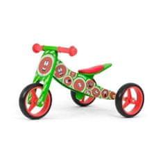 MILLY MALLY Detské multifunkčné odrážadlo bicykel 2v1 Milly Mally JAKE watermelon Zelená