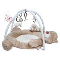 PLAYTO Luxusná hracia deka s melódiou PlayTo medvedík Hnedá
