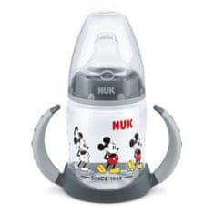 Nuk Dojčenská fľaša na učenie NUK Disney Mickey 150 ml sivá Sivá