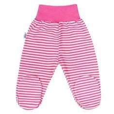 NEW BABY Dojčenské polodupačky New Baby Classic II s ružovými pruhmi 50 Ružová
