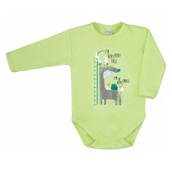 AMMA Dojčenské body s dlhým rukávom Amma zelené 62 (3-6m) Zelená