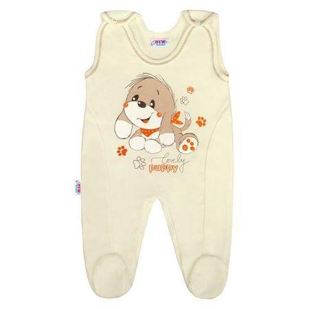NEW BABY Dojčenské dupačky Psík 86 (12-18m) Béžová