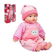 PLAYTO Poľsky hovoriaca a spievajúca detská bábika PlayTo Agatka 46 cm Ružová