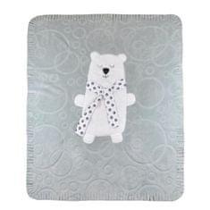 KOALA Detská deka Koala Polar Bear sivá Sivá