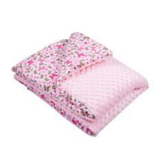 NEW BABY Detská deka z Minky s výplňou New Baby ružová 80x102 cm Ružová