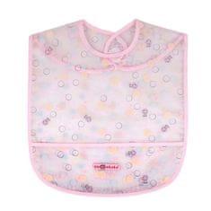 AKUKU Detský podbradník s kapsičkou Akuku ružový s bublinkami Ružová