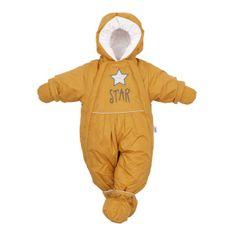 NEW BABY Zimná kombinéza 2v1 New Baby horčicová 62 (3-6m) Žltá