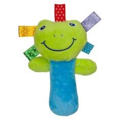 AKUKU Plyšová hračka s pískatkom Akuku žabka Zelená