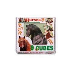 Dohany Skladacie obrázkové kocky Horses Podľa obrázku