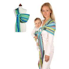 Womar Šatka na nosenie detí Womar Hug Me Zelená