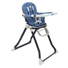 Baby Mix Jedálenská stolička Baby Mix Smart navy Modrá