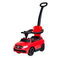 BAYO Detské odrážadlo s vodiacou tyčou Mercedes Benz Bayo red Červená