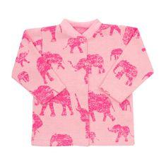 BABY SERVICE Dojčenský kabátik Baby Service Slony ružový 56 (0-3m) Ružová