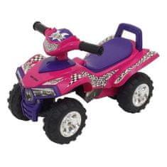 Baby Mix Detské odrážadlo so zvukom Štvorkolka Baby Mix dark pink Ružová