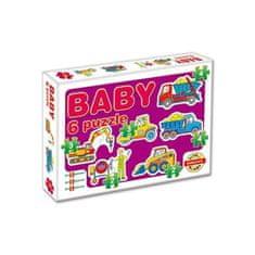 Dohany Detské Baby puzzle Fialová